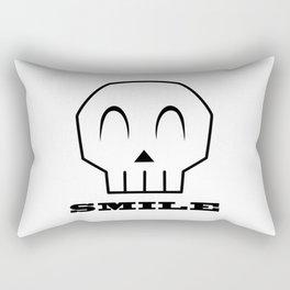 Smile Skull Rectangular Pillow