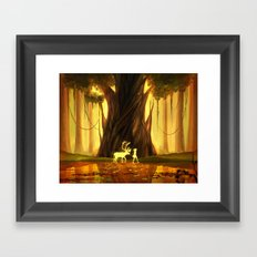 echoes in the movement Framed Art Print