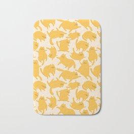 Yellow Cats Pattern Bath Mat