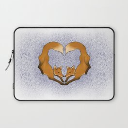Heartful Foxes Laptop Sleeve