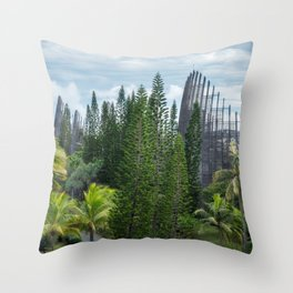 Tjibaou Cultural Centre - a place for art and nature in New Caledonia. Throw Pillow