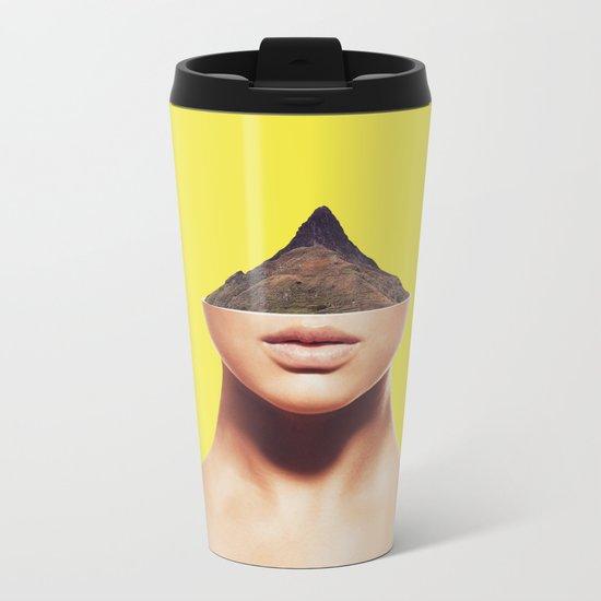 displacement. Metal Travel Mug