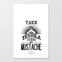 tequila Canvas Prints featuring Tequila by MrWhite