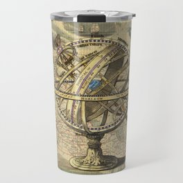 Vintage nautical compass and map illustration Travel Mug