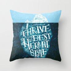 Hermit Iceberg Throw Pillow