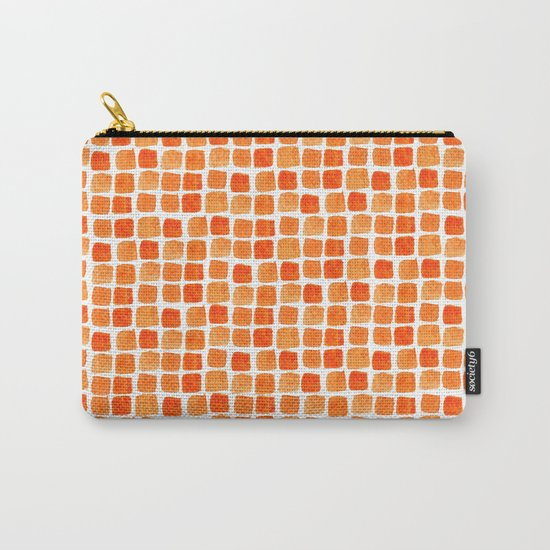 Orange Squares Pattern. Carry-All Pouch