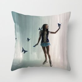La cité cachée des Morphos Throw Pillow