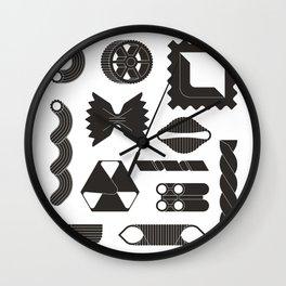 Italian Pasta Black White Wall Clock