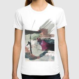 Begin [3]: a minimal abstract mixed media piece T-shirt