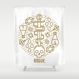 Rogue Emblem Shower Curtain