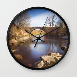 Riverside view Wall Clock