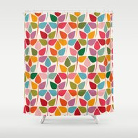 plants Shower Curtains featuring Plants by Helene Michau
