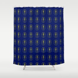 flag indiana,midwest,america,usa,carmel, Hoosier,Indianapolis,Fort Wayne,Evansville,South Bend Shower Curtain