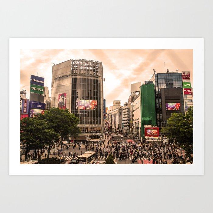 Shibuya Tokyo Japan ArtWork Photography Art Print