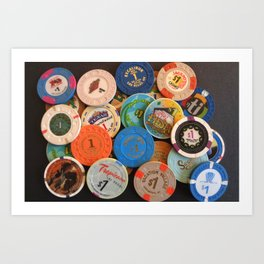 Las Vegas Casino Chips Art Print