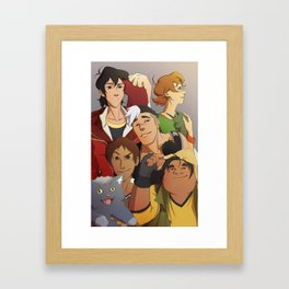The Paladins and their Lions Framed Art Print