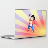 steven universe Laptop & iPad Skins featuring STEVEN UNIVERSE by DROIDMONKEY
