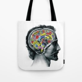 Brain colors fashion Jacob's Paris Tote Bag