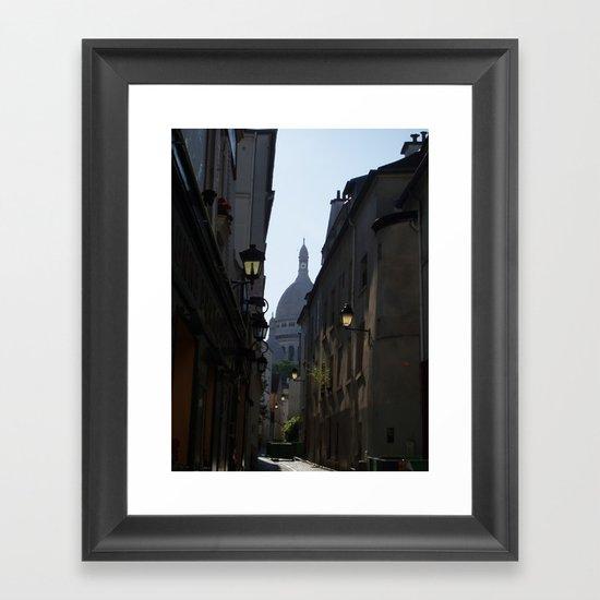 Montmartre street Framed Art Print