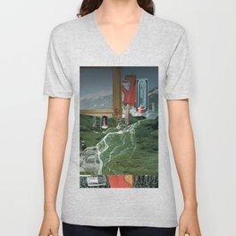 Magritte is waiting · 3 Unisex V-Neck