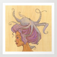 The Octopus Mermaid 4 Art Print