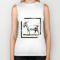 goat Biker Tanks featuring Goat by LoRo  Art & Pictures