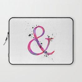 Ampersand - Pink Splatter Laptop Sleeve