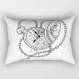 clock Rectangular Pillow