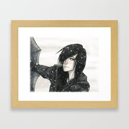 winter kiss Framed Art Print