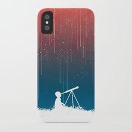 Meteor Rain (light version) iPhone Case