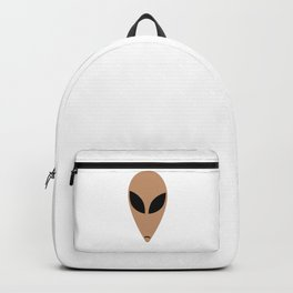 Alien head in cartoon stlye Backpack