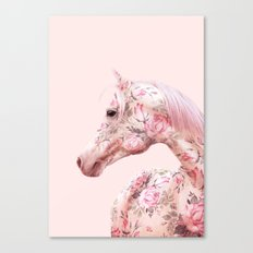 FLORAL HORSE Canvas Print