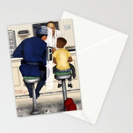 If Norman Rockwell Lived in Today's Society Stationery Cards