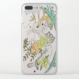 Journey to the Center of Nothing Clear iPhone Case