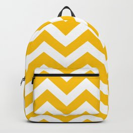 Golden poppy - yellow color -  Zigzag Chevron Pattern Backpack