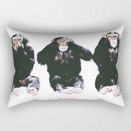 The three wise monkeys Rectangular Pillow