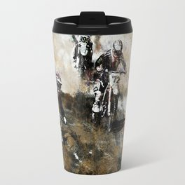 """Dare to Race"" Motocross Dirt-Bike Racers Travel Mug"