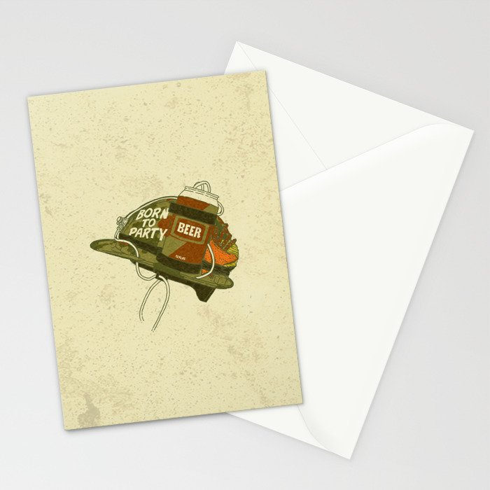 Born to party Stationery Cards