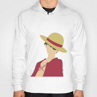 luffy Hoodies featuring Luffy by Polvo