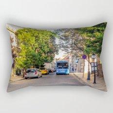 BUS IN BUDAPEST Rectangular Pillow