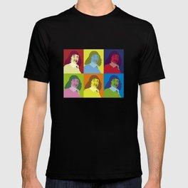 philosopher, pop art Rene Descartes, Cogito ergo sum,  I think therefore I am T-shirt