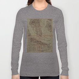 Vintage Map of Charleston South Carolina (1780) Long Sleeve T-shirt