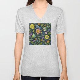 Petty Floral Pattern 1 Unisex V-Neck