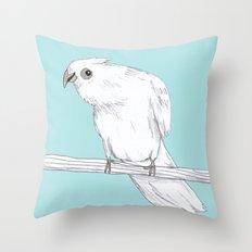 Bald-Eyed Cockatoo Throw Pillow