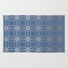 Simply Vintage Link in White Gold Sands and Aegean Blue Rug