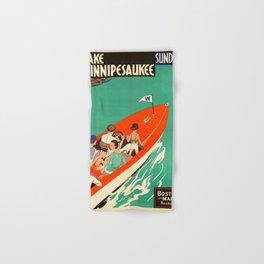 Lake Winnipesaukee - Vintage Poster Hand & Bath Towel