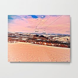 Chilly Sand Metal Print