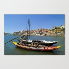 Port wine barges on the Douro Canvas Print
