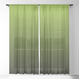 Ombre | Lime Green and Charcoal Grey Sheer Curtain