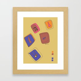 Pieces of Meces Framed Art Print